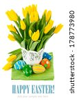 easter egg with spring flowers. ...   Shutterstock . vector #178773980