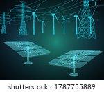 alternative eco energy concept... | Shutterstock .eps vector #1787755889