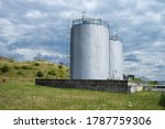 Two Petrochemical Tanks On The...
