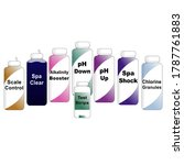 gradient bottles with a variety ... | Shutterstock .eps vector #1787761883