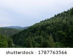 beautiful summer mountains with ... | Shutterstock . vector #1787763566