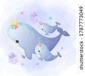 ocean creatures illustration....   Shutterstock .eps vector #1787773049