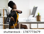 back pain bad posture woman... | Shutterstock . vector #1787773679