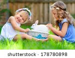 Group Of Two Little Girl With ...