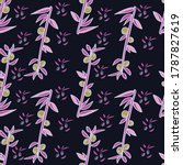 olive branch seamless pattern... | Shutterstock .eps vector #1787827619