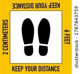 social distancing  keep your... | Shutterstock .eps vector #1787843759