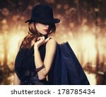 style redhead girl with... | Shutterstock . vector #178785434