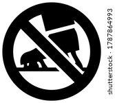 no chewing gum forbidden sign ... | Shutterstock .eps vector #1787864993