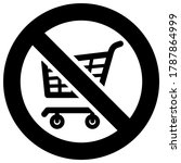 no shopping cart forbidden sign ... | Shutterstock .eps vector #1787864999