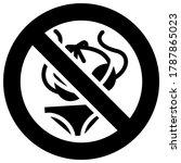 no bikinis forbidden sign ... | Shutterstock .eps vector #1787865023