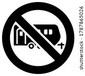 no camping cars and caravans... | Shutterstock .eps vector #1787865026