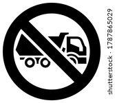 no freight transport forbidden... | Shutterstock .eps vector #1787865029