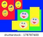faces emocions funny happy... | Shutterstock . vector #178787600