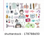 medical icon set  idea  | Shutterstock .eps vector #178788650