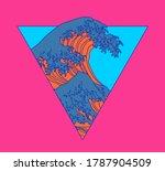 great wave off kanagawa in... | Shutterstock .eps vector #1787904509
