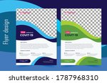 covid 19 flyer template  flyer  ... | Shutterstock .eps vector #1787968310