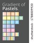 beautiful color gradient... | Shutterstock .eps vector #1788009920