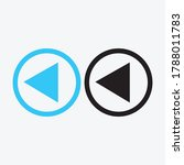 play button icon in trendy flat ...   Shutterstock .eps vector #1788011783