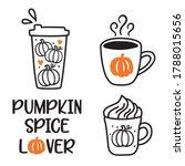 vector illustration of pumpkin... | Shutterstock .eps vector #1788015656