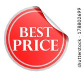 best price red circle label | Shutterstock . vector #178802699