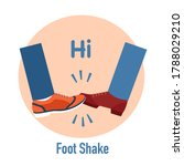 foot shake. greeting hit your... | Shutterstock .eps vector #1788029210