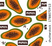 papaya  english text ... | Shutterstock .eps vector #1788070913