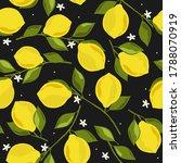 lemons background. hand drawn...   Shutterstock .eps vector #1788070919