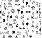 party seamless pattern drawn in ... | Shutterstock .eps vector #1788071219