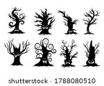 dead tree silhouettes icon... | Shutterstock .eps vector #1788080510
