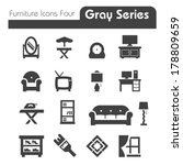 furniture icons gray series four | Shutterstock .eps vector #178809659
