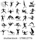 edge style of silhouette sport... | Shutterstock .eps vector #178812776