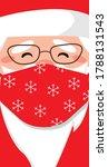 portrait of santa claus wearing ... | Shutterstock .eps vector #1788131543
