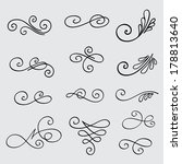 vector set of calligraphic... | Shutterstock .eps vector #178813640