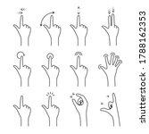 gesture with arrows for touch...
