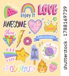 large set of colorful fashion... | Shutterstock .eps vector #1788169739