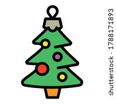 christmas fir tree toy icon.... | Shutterstock .eps vector #1788171893
