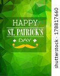 happy st. patrick's day with... | Shutterstock .eps vector #178817660