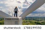 Windmill Engineer Wearing Ppe...