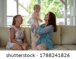 two girlfriends couple women at ... | Shutterstock . vector #1788241826