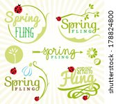 spring design elements. labels... | Shutterstock .eps vector #178824800
