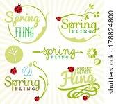 Spring Design Elements. Labels...