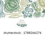 hand drawn sketch vegetables... | Shutterstock .eps vector #1788266276
