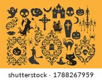 vector set of silhouettes of... | Shutterstock .eps vector #1788267959