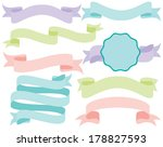pastel ribbon banners | Shutterstock .eps vector #178827593