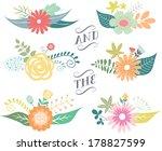 spring floral clusters   flower ... | Shutterstock .eps vector #178827599