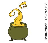 the witch's jar cauldron. magic ... | Shutterstock .eps vector #1788285419