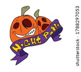 funny two pumpkins and ribbon... | Shutterstock .eps vector #1788297053