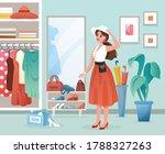 fashion woman flat vector...   Shutterstock .eps vector #1788327263