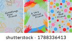 set of 3 very colourful...   Shutterstock .eps vector #1788336413