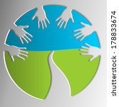 symbol for helping hands | Shutterstock . vector #178833674